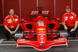 Ferrari fans with the Ferrari F1 car