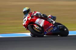 Troy Bayliss showed great form during the World Superbikes practice session number one, form that extended to a victory in race one, and second placing in race two