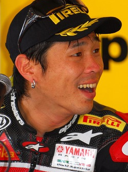 Noriyuki Haga during the post race press conference