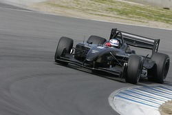 Graham Rahal driving in the Newman Hass Lanigan Racing Panoz DP01