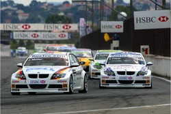 Start, Jorg Muller, BMW Team Germany, BMW 320si WTCC and Andy Priaulx, BMW Team UK, BMW 320si WTCC