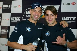 Jorg Muller, BMW Team Germany, BMW 320si WTCC and Augusto Farfus, BMW Team Germany, BMW 320si WTCC