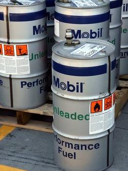 Mobil Fuel drums