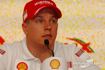 Kimi Raikkonen, Scuderia Ferrari - Shell Press Conference