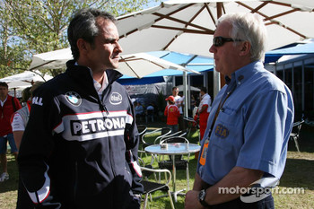 Beat Zehnder, BMW Sauber F1 Team, Team Manager and Charlie Whiting, FIA Safty delegate, Race director and offical starter