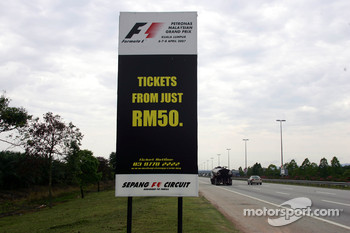 A circuit advertisement for tickets
