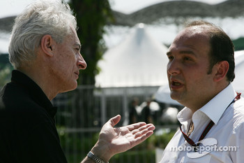 Daniele Audetto, Super Aguri F1 and Colin Kolles, Spyker F1 Team, Team Principal