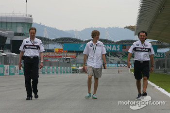 Sebastian Vettel, Test Driver, BMW Sauber F1 Team, walks the circuit