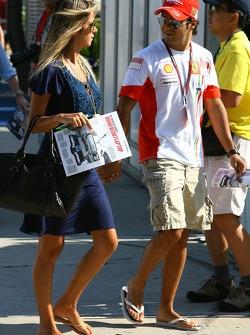 Felipe Massa, Scuderia Ferrari and Rafaela Bassi, girlfriend of Felipe Massa