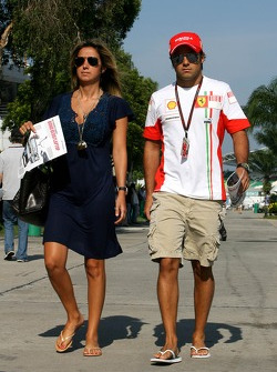 Felipe Massa, Scuderia Ferrari and Rafaela Bassi, Girl Friend, girlfriend of Felipe Massa