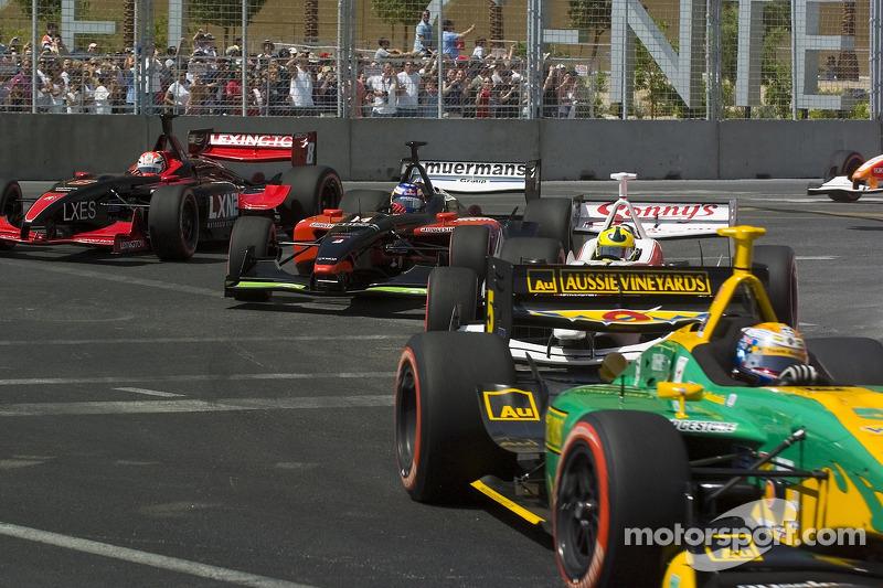 Bruno Junqueira, Robert Doornbos, Bruno Junqueira and Will Power