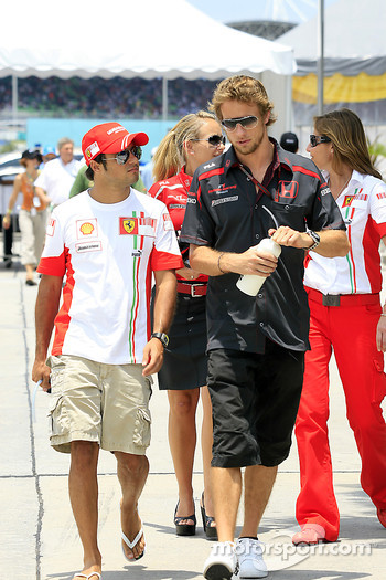 Felipe Massa, Scuderia Ferrari, Jenson Button, Honda Racing F1 Team