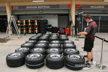 Honda Racing F1 Team tyres are prepared for the weekend