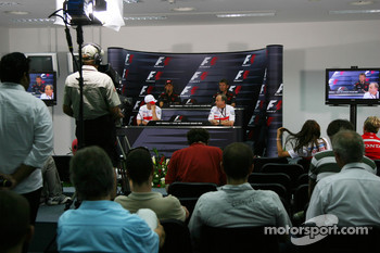 FIA press conference: Jenson Button, Honda Racing F1 Team, Nick Fry, Honda Racing F1 Team, Chief Executive Officer, Ralf Schumacher, Toyota Racing, John Howett, Toyota Racing, President TMG
