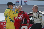 Mark Martin, Jamie McMurray and Regan Smith visit before qualifying
