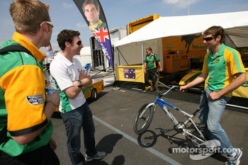 Simon Pagenaud and Will Power