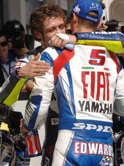 Valentino Rossi and Colin Edwards