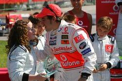Vodafone Spain Go-Karting Challenge: Fernando Alonso, McLaren Mercedes, with young Go-Karters