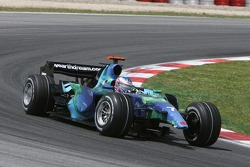 Jenson Button, Honda Racing F1 Team, RA107, with his front wing missing