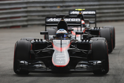 Fernando Alonso and Jenson Button, McLaren MP4-30 Honda