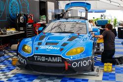 TRG-AMR Aston Martin team area