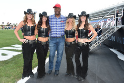 NFL player Charles Haley with the Great American Sweethearts