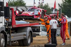 Trouble for the #13 Rebellion Racing Rebellion R-One: Dominik Kraihamer, Daniel Abt, Alexandre Imperatori