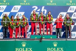 LMP1 privateer podium: class winners #13 Rebellion Racing Rebellion R-One: Dominik Kraihamer, Daniel Abt, Alexandre Imperatori, second place #12 Rebellion Racing Rebellion R-One: Nicolas Prost, Nick Heidfeld, Mathias Beche