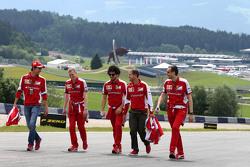 Sebastian Vettel, Scuderia Ferrari and Esteban Gutierrez, Scuderia Ferrari