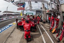 Pit stop for #23 Nissan Motorsports Nissan GT-R LM NISMO: Olivier Pla, Jann Mardenborough, Max Chilton