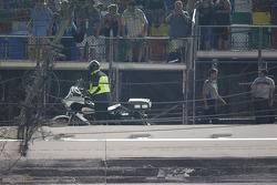 The large hole in the Daytona International Speedway fence