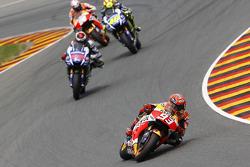 Marc Marquez, Repsol Honda Team and Jorge Lorenzo and Valentino Rossi, Yamaha Factory Racing and Dani Pedrosa, Repsol Honda Team