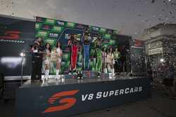 Podium: Race winner Mark Winterbottom, Prodrive Racing Australia Ford, second place David Reynolds, Rod Nash Racing Ford and third place Fabian Coulthard, Brad Jones Racing Holden