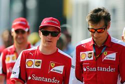 Kimi Raikkonen, Ferrari with Massimo Rivola, Ferrari Sporting Director