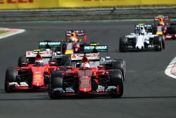 Sebastian Vettel, Ferrari SF15-T leads behind the FIA Safety Car