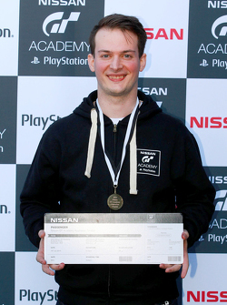 Simon Feigl competes at the Nissan GT Academy