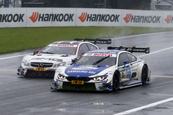 Maxime Martin, BMW Team RMG BMW M4 DTM leads Paul di Resta, HWA AG Mercedes-AMG C63 DTM