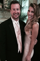 Kurt Busch with Ashley Van Metre