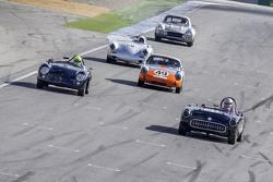 Les Alexander, 1957 Chevrolet Corvette, David Hogg, 1956 Porsche 356A Speedster, Ranson Webster, 1961 Porsche Abarth Carerra and Mike Sullivan 1960 Porsche 356