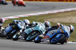 Jorge Navarro, Estrella Galicia 0,0, Danny Kent, Leopard Racing, et Romano Fenati, SKY Racing Team VR46