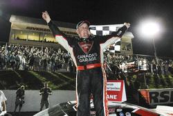 Winner Scott Steckly celebrates his victory