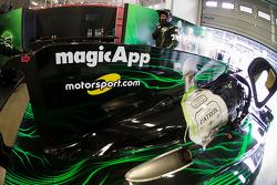 El logotipo Motorsport.com en el # 31 Extreme Motorsports velocidad Ligier JS P2