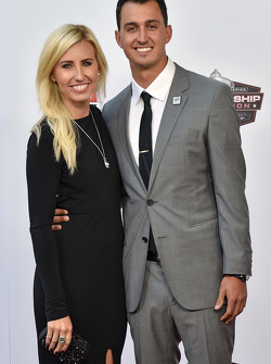 Graham Rahal, Rahal Letterman Lanigan Racing Honda with Courtney Force