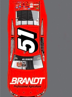 Throwback paint scheme for Justin Allgaier