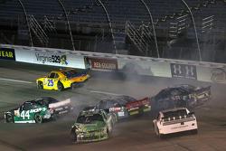 John Wes Townley, Athenian Motorsports Chevrolet and David Starr, TriStar Motorsports Toyota
