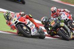 Andrea Iannone, Ducati Team and Bradley Smith, Tech 3 Yamaha and Andrea Dovizioso, Ducati Team