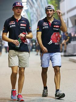 Max Verstappen en Carlos Sainz Jr, Scuderia Toro Rosso