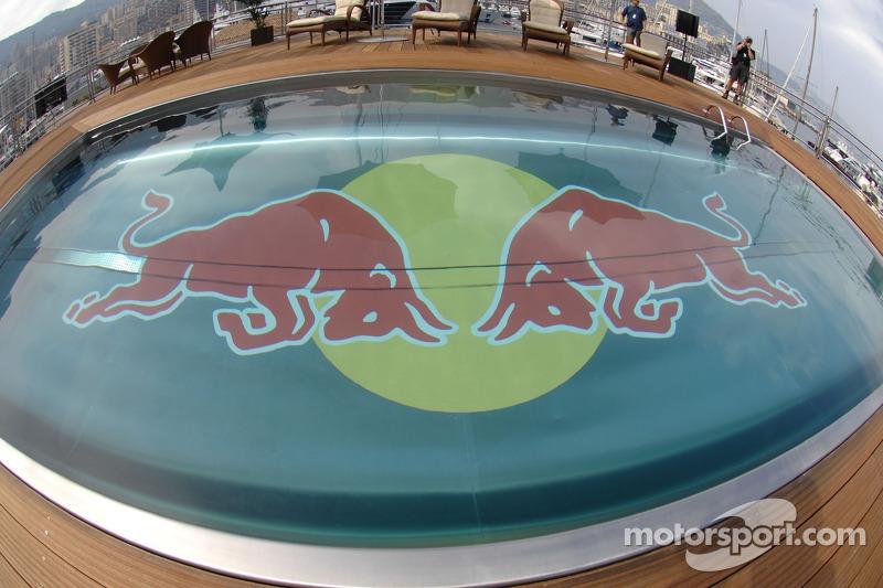 Red Bull Energy Station Swimming Pool At Monaco Gp