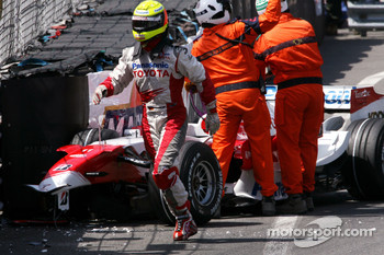 Ralf Schumacher, Toyota Racing crashes