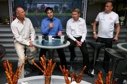 Ron Dennis, McLaren, Team Principal, Chairman and Mika Hakkinen, Ex F1 World Champion, Global Responsible Drinking Ambassador for Johnnie Walker